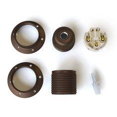 Objímky pre tienidlá Kit, Wall Lights, Stud Earrings, Creative, Decor, Double Ring, Creative Textiles, Wall Lamp Shades, Rust