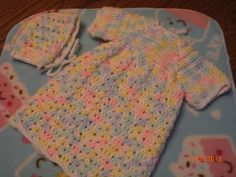 Preemie Angel Gown and Hat free crochet pattern