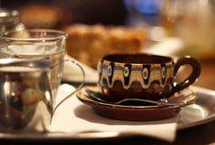 Espresso with a little bit of soya milk ;-)