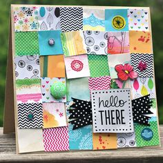 Hello There card - by Corrie Jones using Amy Tangerine Sketchbook from American Crafts.