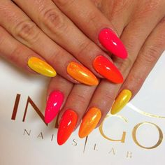 Loud & Proud Gel Brush in ombre stylization #orange #yellow #ombre #nails #nail #pink #summer