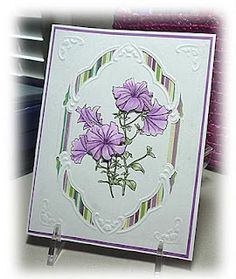 Very pretty card using Dover flowers. #dover #clipart #cardmaking