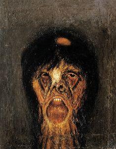 Screenshot at PM Arte Horror, Horror Art, Dark Art Paintings, Scary Paintings, Rennaissance Art, Dark Drawings, Bizarre Art, Arte Obscura, Macabre Art