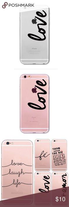 """Love"" print Iphone 6/6S case  Transparent soft silicone Iphone 6/6S case with a Love print in black letters. Slim fit. Lightweight.  Accessories Phone Cases"