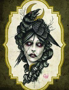 Crow girl by Derek Nobel