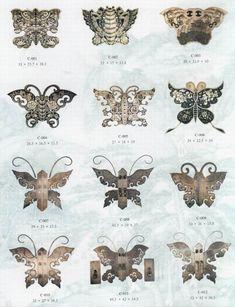 Butterfly cabinet hardware