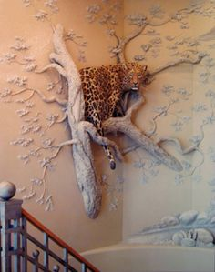 Tom Moberg is a very talented artist who uses drywall and joint compound, among other things, as his medium. These are some examples of his work. To see more of his collection, see www.moberggaller...