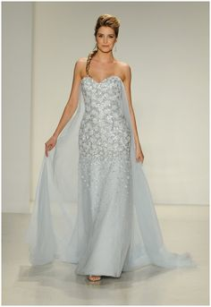 Wedding gown inspired by Elsa from Frozen from the 2015 Disney Fairy Tale Weddings Bridal Collection from Alfred Angelo