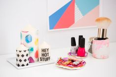 How to Make Patterned Candles in Under 10 Minutes via Brit + Co.