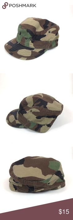 3a268884a7344 Army Woodland Cap USGI US Military BDU Uniform Hat This Military  Lightweight Heat Hat is in