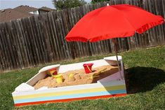 While they're in the sandbox, you can relax on the back patio! You can find tips and plans on Made. Also of note: add cinnamon to your sandbox to keep the bugs out! Via Parent Hacks.