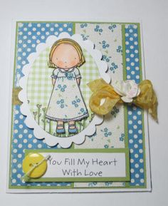 MFT Girl Loves YOu Blank Note Handmade by LoveInBloomCreations, $3.00