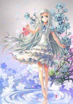Tags: Anime, Rakuhei, Ano Hi Mita Hana no Namae o Bokutachi wa Mada Shiranai., Honma Meiko