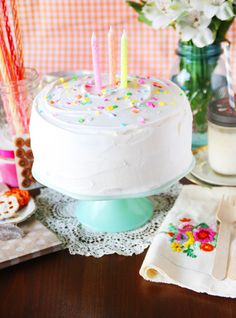 Birthday Fun with a pretty little cake