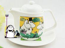 New Arrival!!! Rare Moomin Dish Plate Mug Cartoon Cute Muumi Teapot Collection(China (Mainland))