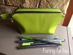 Trousse Zip-Zip cousue par Fanny l'a fée ! Patron de couture Sacôtin