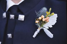 Scottish Thistle, Hypericum, and Dusty Miller Boutonniere by inBloom Event Design, via Flickr