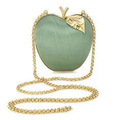 Celadon Moire Apple Clutch Anya Hindmarch Handbags