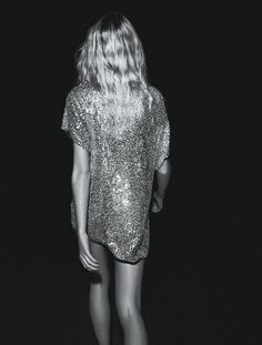 BB DAKOTA #sequins #shimmer #b&w