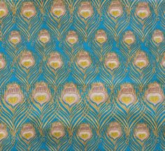 Liberty Tana Lawn fabric Caesar - Fat Quarter 18''x26'' Green