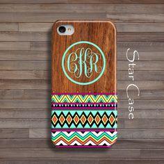 Monogram iPhone 5s Case (Tribal/Wood) <3 <3 cuteeee