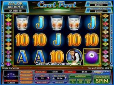 Cool Pool is a 5-reel, 25 payline, NuWorks progressive video slot machine with a progressive jackpot. More this way.... http://www.casinocashjourney.com/slots/nuworks/cool-pool.htm