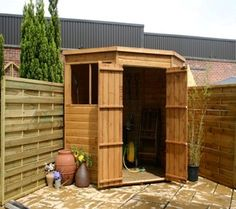 Ideas 5 sided corner shed design Cheap Storage Sheds, Diy Storage Shed, Garden Nook, Corner Garden, Small Garden Landscape Design, Corner Sheds, Small Wooden House, Outdoor Buildings, Duck House