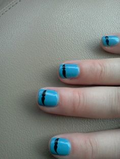 Sister's mustache nails for her mustache themed baby shower mom and I threw!