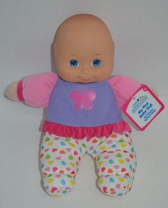 """Kid Connection My First Baby Doll Stuffed Rubber Head Pink Hearts Butterfly 11"""" #Dolls http://stores.ebay.com/Lost-Loves-Toy-Chest/_i.html?image2.x=0&image2.y=0&_nkw=first+doll"""