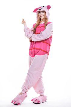 9e4ebc4a7f Unisex Adult Winnie The Pooh Flannel 1 Cosplay Costume Kigurumi Pajama  Sleepwear Pooh Flannel