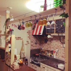 Kitchen/DIY/rutawa rawajifu/食器棚DIY/賃貸でも楽しく♪/インスタ→chii_neのインテリア実例 - 2016-09-21 04:21:59 | RoomClip (ルームクリップ)