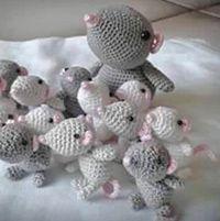 59 Ideas crochet toys amigurumi mice for 2019 Crochet Animal Amigurumi, Crochet Mouse, Amigurumi Patterns, Crochet Animals, Crochet Baby, Free Crochet, Knit Crochet, Crochet Kids Scarf, Crochet For Kids