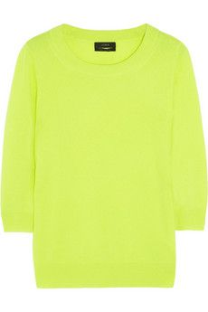 J.Crew Tippi neon fine-knit cashmere sweater