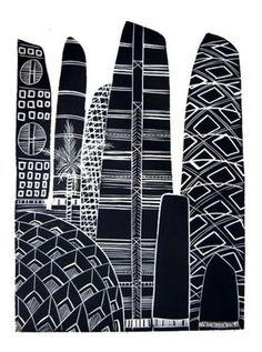 Downtown Upolu, by Sheyne Tuffery, is described as an exploration into the Wellington-based artist's Samoan heritage as well as an expression of. Polynesian Art, Pattern Art, Art Patterns, Nz Art, Custom Screen Printing, Maori Art, Painter Artist, Art Carved, Still Life Art