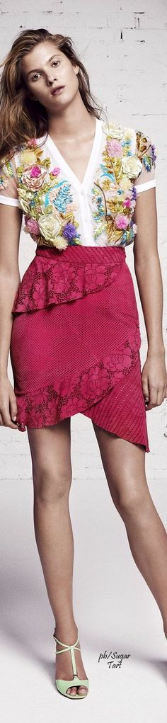 Blumarine Resort 2016 women fashion outfit clothing style apparel @roressclothes closet ideas