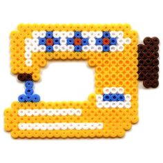Sewing machine hama beads by stoffbuero Perler Bead Designs, Hama Beads Design, Diy Perler Beads, Perler Bead Art, Pearler Beads, Fuse Bead Patterns, Perler Patterns, Beading Patterns, Peyote Patterns