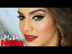 Camila Coelho ▶ Maquiagem festiva (Especial de Natal) - YouTube