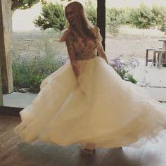 Bride twirling in wedding dress. Wedding dress dream. Hayley Paige wedding dress. Galway Downs. Wedgewood https://www.instagram.com/p/BVdnKzJBS5u/?taken-by=wedgewood.galwaydowns