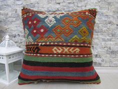 vegetable dyed kilim cushion pillow 16 x 16 anatolian turkey pillow home decor outdoor pillow kilim pillow boho pillow throw pillow cover