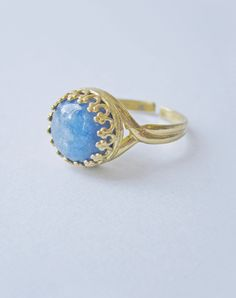 Muirne Kyanite Ring — Eclectic Eccentricity Vintage Jewellery