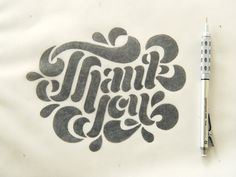 Thank you lettering work, by Francis Chouquet. Link on Dribbble:https://dribbble.com/shots/2198664-Thank-You-Card-WIP Thanks for your support ;-)