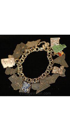 vintage U.S. charms bracelet