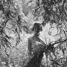 Rare photos of Marilyn Monroe hiking in the woods, before she was famous