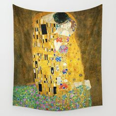 This ready to hang, gallery-wrapped art piece features a man kissing a womans cheek. Gustav Klimt was an Austrian symbolist painter and one of the most prominent members of the Vienna Secession movement. Klimt is noted for his paintings, murals, sket Painting Frames, Painting Prints, Kiss Painting, Deco Elephant, Canvas Art Prints, Framed Prints, Canvas Paintings, Framed Canvas, Poster Wall
