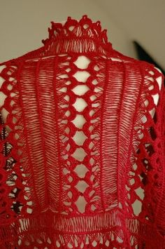 hairpin lace shawl cotton linen