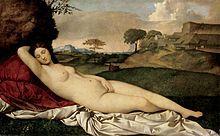 Giorgione Sleeping Venus (c. 1510) Gemäldegalerie Alte Meister, Dresden, Germany.