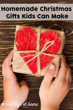 Want to get your kids involved in Christmas gift giving? Let them help out and make homemade gifts for your family and friends. Don't miss this list of homemade gifts kids can make. | Real Life at Home #HomemadeGifts #KidMadeGifts Homemade Gifts For Dad, Best Dad Gifts, Homemade Christmas Gifts, Christmas Crafts For Kids To Make, Christmas Gift For Dad, Kids Crafts, Christmas Ideas, Christmas Stuff, Christmas 2019