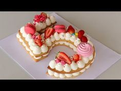 Number Cake | Alphabet Cake | How to Make Cream Tart - YouTube