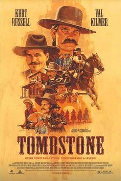Tombstone Best Movie Posters, Classic Movie Posters, Movie Poster Art, Tombstone 1993, Tombstone Movie, Best Classic Movies, Great Movies, Billy Zane Movies, Film Movie