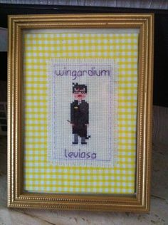 Harry Potter cross stitch courtesy of my friend Hannah xxx